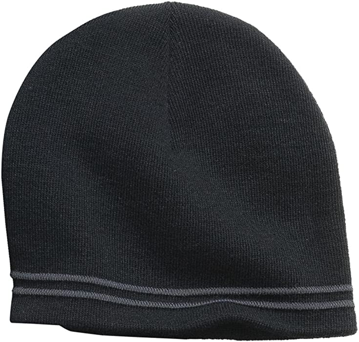 6a6ffa99248 Sport-Tek Men s Spectator Beanie OSFA Black Iron Grey at Amazon ...