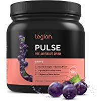Legion Pulse, Best Natural Pre Workout Supplement for Women and Men – Powerful Nitric Oxide Pre Workout, Effective Pre…