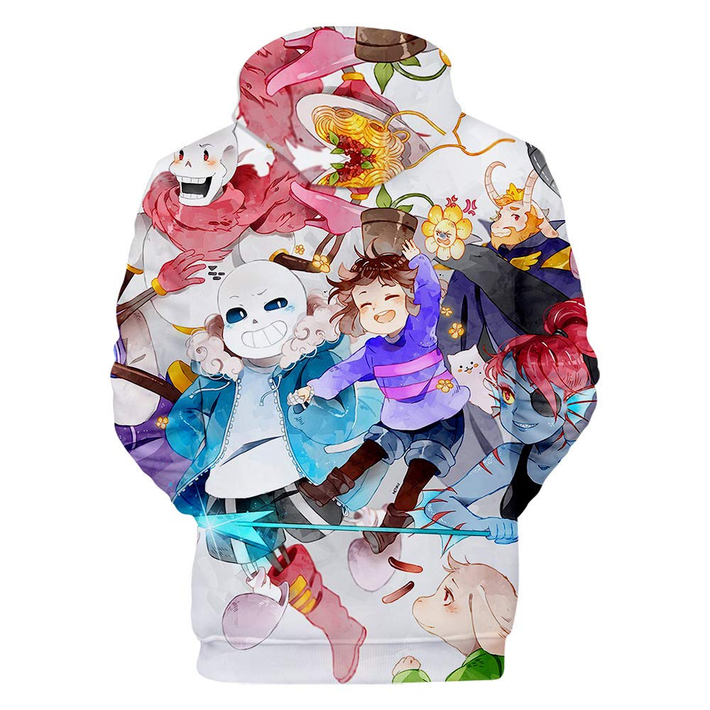Undertale Pullover Childrens Printing Hooded Sweatshirt Kids Hoodie Pullover Casual Tops for Girls and Boys Boys and Girls