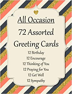 72 count Christian/Religious Greeting Card Assortment w/Scripture ~ DS ~ 6 FREE Cards w/purchase