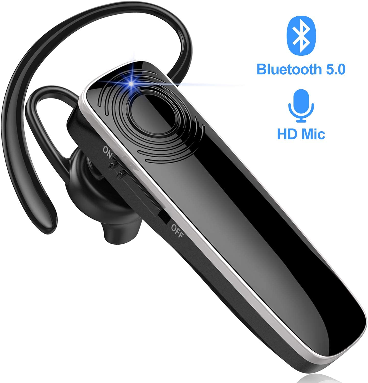 Auriculares Bluetooth New Bee Auricular Inalámbrico Manos Libres Auricular Negocio Auricular Conducción con Micrófono para PC iPhone iPad Samsung Huawei Sony Xiaomi