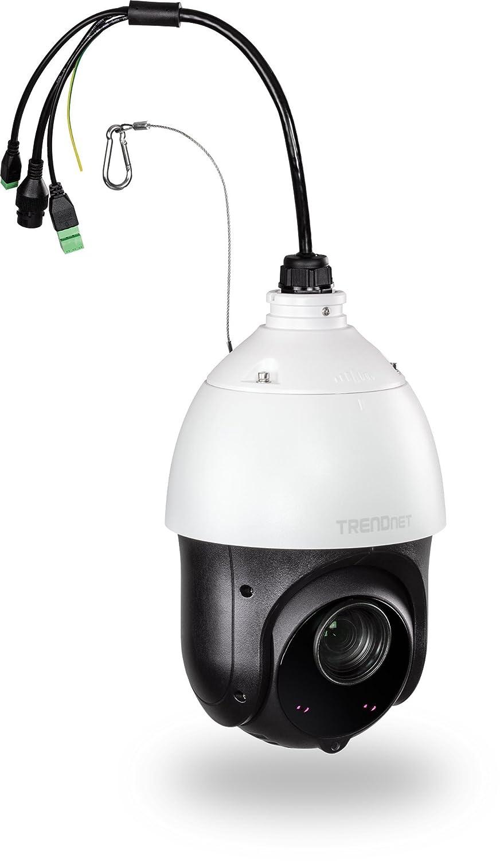 TRENDnet Indoor/Outdoor 2MP 1080p PoE+ IR PTZ Speed Dome Network Camera, 20 x Optical Zoom, Auto-Focus, Auto-Iris, IP66 Housing, Night Vision Up to 100m (328 ft.), TV-IP440PI