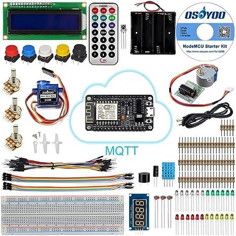 KOOKYE NodeMCU LUA Devkit IoT Starter Kit Based on ESP8266 Support WiFi mqtt and Arduino IDE: Amazon.es: Informática