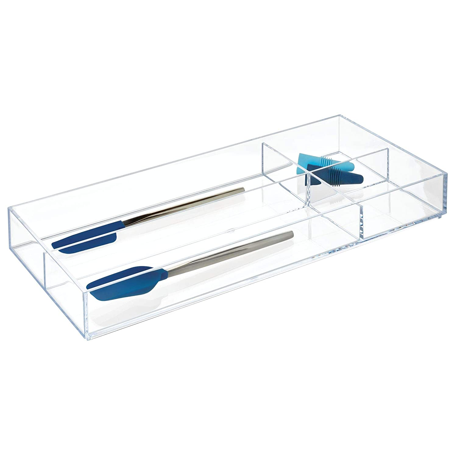 iDesign Clarity Organiser Tray Works Well as Accessories Organiser Extra Large Plastic Drawer Insert Clear
