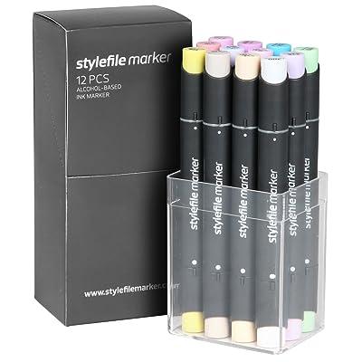 Stylefile Marker Set of 12 - Pastel Set