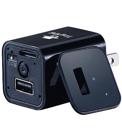 Cámara Espía con Cargador USB para Telefono por TinySpy| Cámara Escondida con Grabación Continua y Detector de Movimiento | Compatible con Android y iOS ...