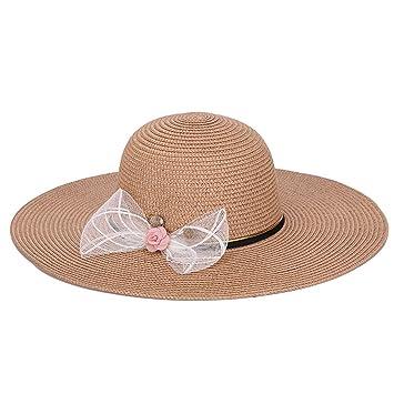 Wy-Bufanda Plegable Grande Sombrero de Sol Playa Sombrero Sombrero Sombrero  Sol Sombrero de Verano f5a963e514c
