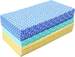 JEBBLAS Cleaning Towels Dish Towels and Dish Cloths Reusable Towels,Handy Cleaning Wipes, Great Dish Towel, Disposable, Absorbent, Dry Quickly Total 60 Sheets
