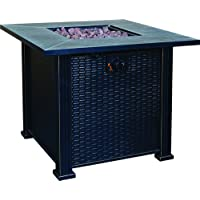 Bond Terrace Park Gas Fire Table, 30-Inch