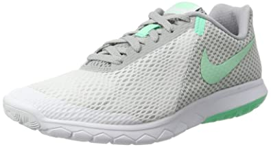 100% authentic 74ca7 f89ce NIKE Women s Flex Experience RN 6 Running Shoe, White Green Glow Wolf Grey
