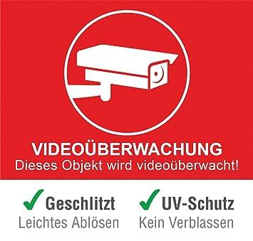 10 Stuck 1 Gratis Premium Aufkleber Videouberwachung Warnhinweis