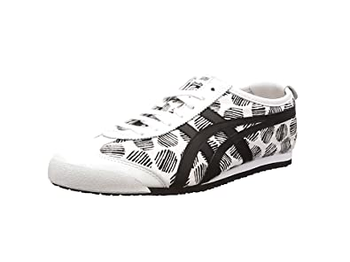 ASICS Mexico 66 D620n-0190-9h, Sneakers Basses adulte mixte - Blanc (white/black 0190), 43.5 EU