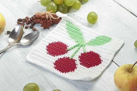 Agarrador de ganchillo artesanal accesorio para cocina regalo original: Amazon.es: Hogar