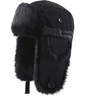 cb6f48359e09e Connectyle Oudoor Unisex Faux Fur Lined Trapper Hat Warm Windproof Winter  Russian Hats