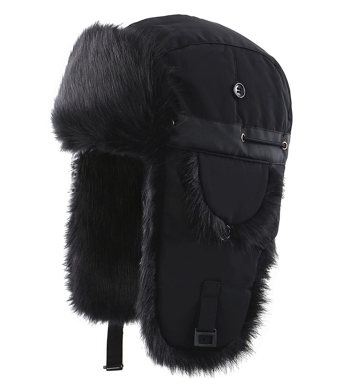 Connectyle Unisex Faux Fur Lined Trooper Trapper Hat Warm Winter Hunting  Bomber Hats with Ear Flaps 8f3558615e2f