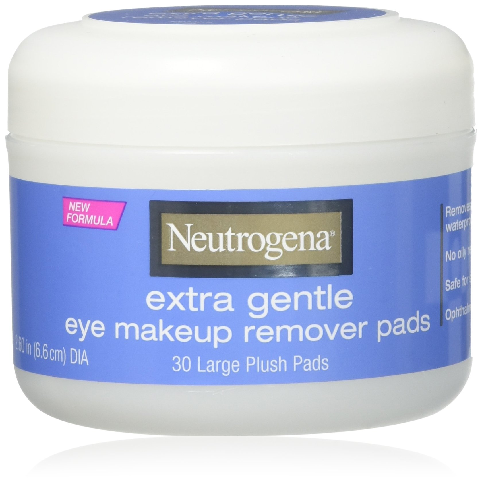 Neutrogena Eye Extra Gentle Makeup Remover Pads 30 Count Jar (6 Pack) by Neutrogena