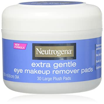 Amazon.com : Neutrogena Eye Extra Gentle Makeup Remover Pads 30 Count Jar (6 Pack) : Beauty
