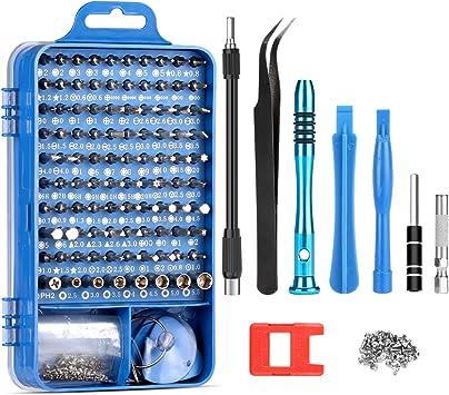 Kit de Destornilladores Uktunu 110 en 1 Juego Destornilladores Precisión Mini Profesionales Conductor Herramientas con la Extensión Reparación para iphone Teléfono Móviles Electronica DIY: Amazon.es: Bricolaje y herramientas
