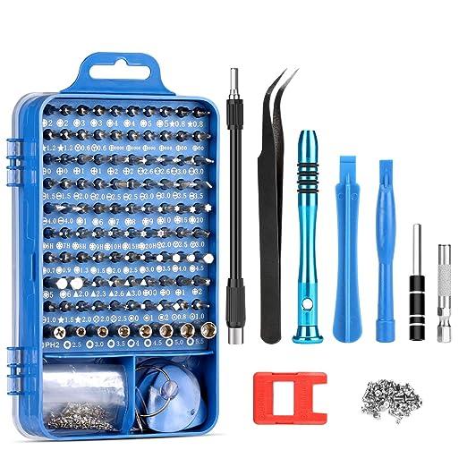 Kit de Destornilladores Uktunu 110 en 1 Juego Destornilladores Precisión Mini Profesionales Conductor Herramientas con la Extensión Reparación para ...