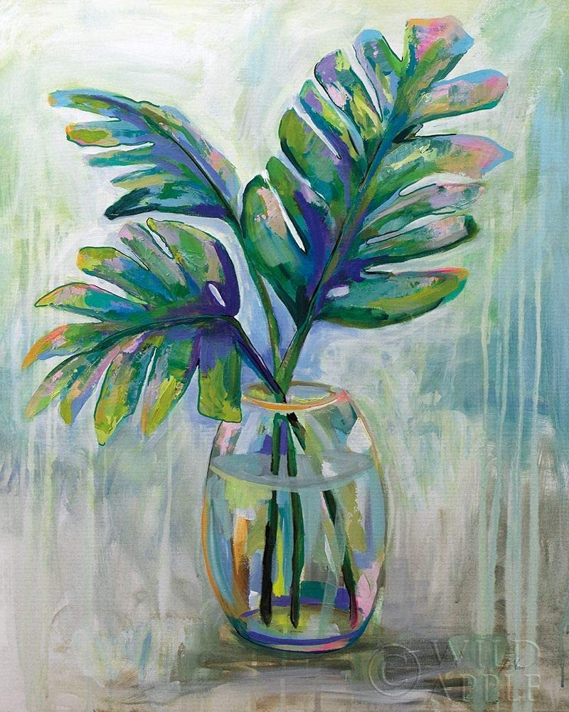 Posterazzi PDX53236LARGE Palm Leaves II Jeanette Vertentes Poster Print, 24 x 36, Multicolor