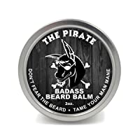 Badass Beard Care Beard Balm - The Pirate Scent, 2 Ounce - All Natural Ingredients, Keeps Beard and Mustache Full, Soft and Healthy, Reduce Itchy and Flaky Skin, Promote Healthy Growth