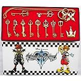 Cosplay Keyblade Porte-clés Jeu Clés Anneau Sword Weapon pendentif Sora Collier Set Costume Accessoires gift Collection