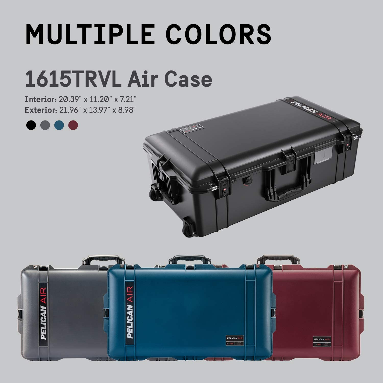 Black Pelican Air 1615 Case With Foam