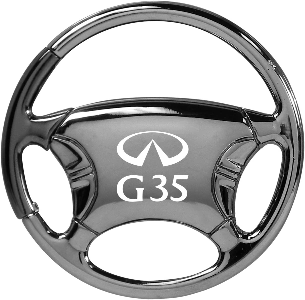 Infiniti G35 Black Chrome Steering Wheel Key Chain