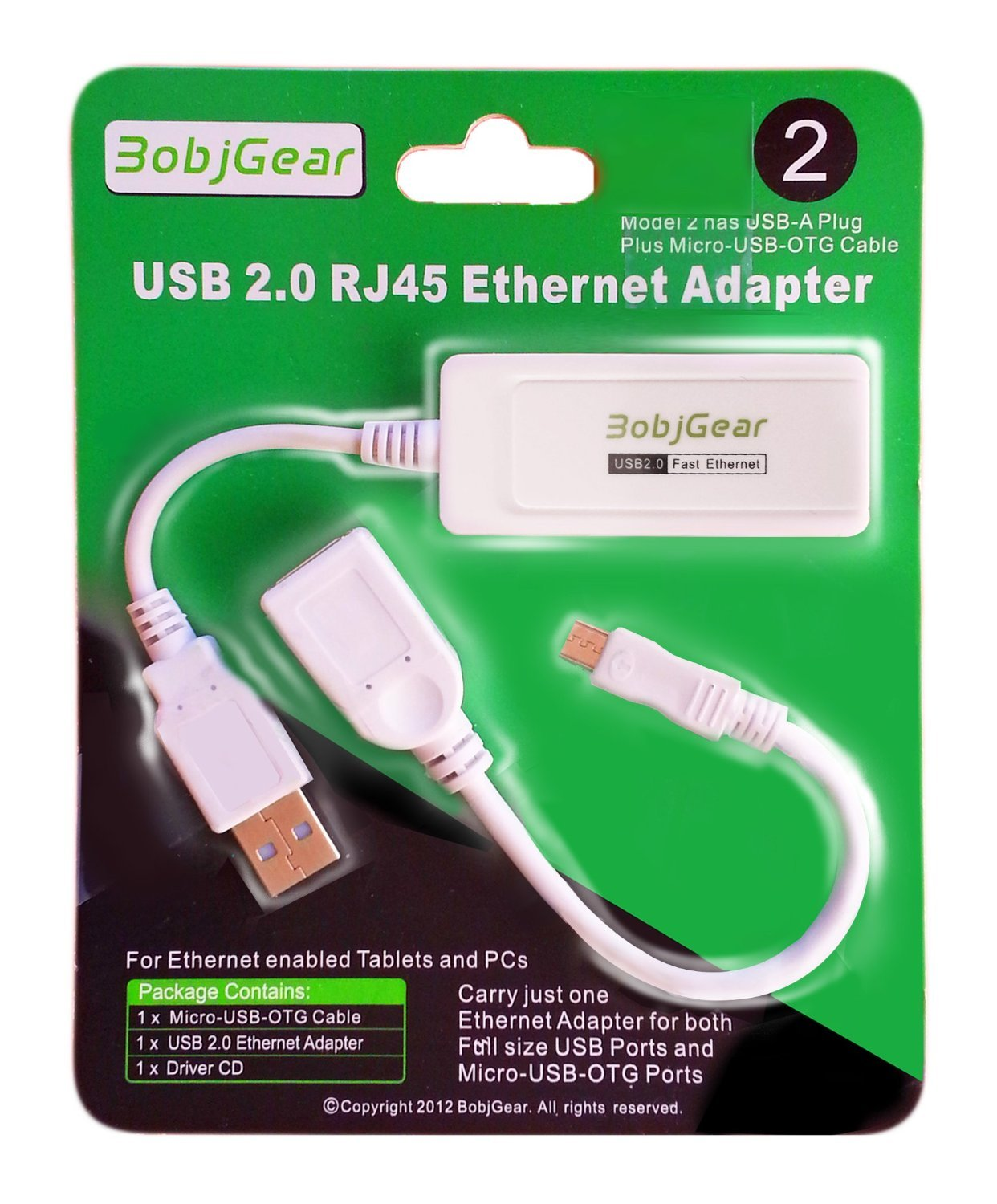 Bobjgear Usb To Rj45 Ethernet Adapter And Matching Micro Otg 0 Cable For Android Tablets Chromebooks Ultrabooks Windows Linux Mac Chrome Os