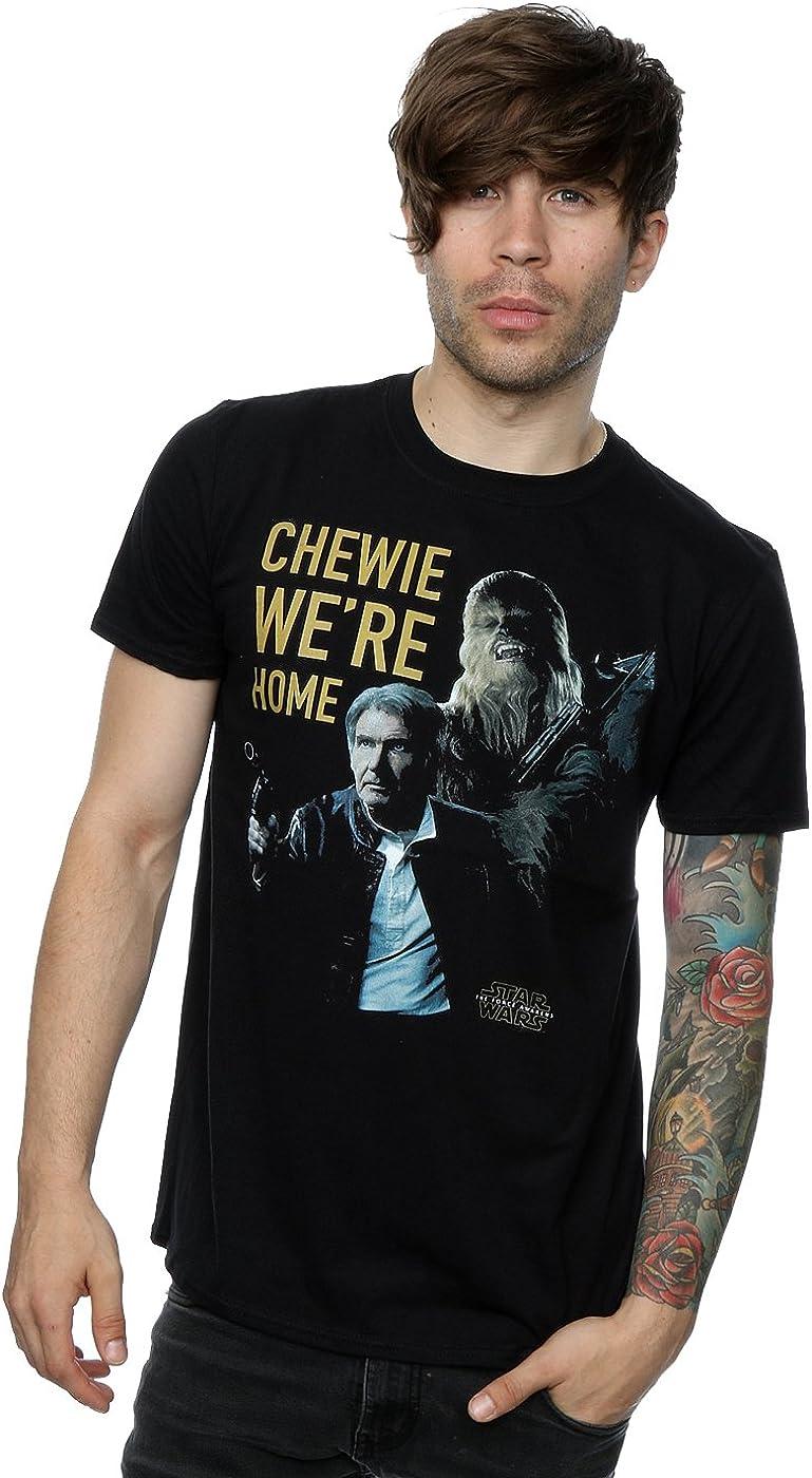 Star Wars Men's Force Awakens Chewie We're Home T-Shirt X-Large Black