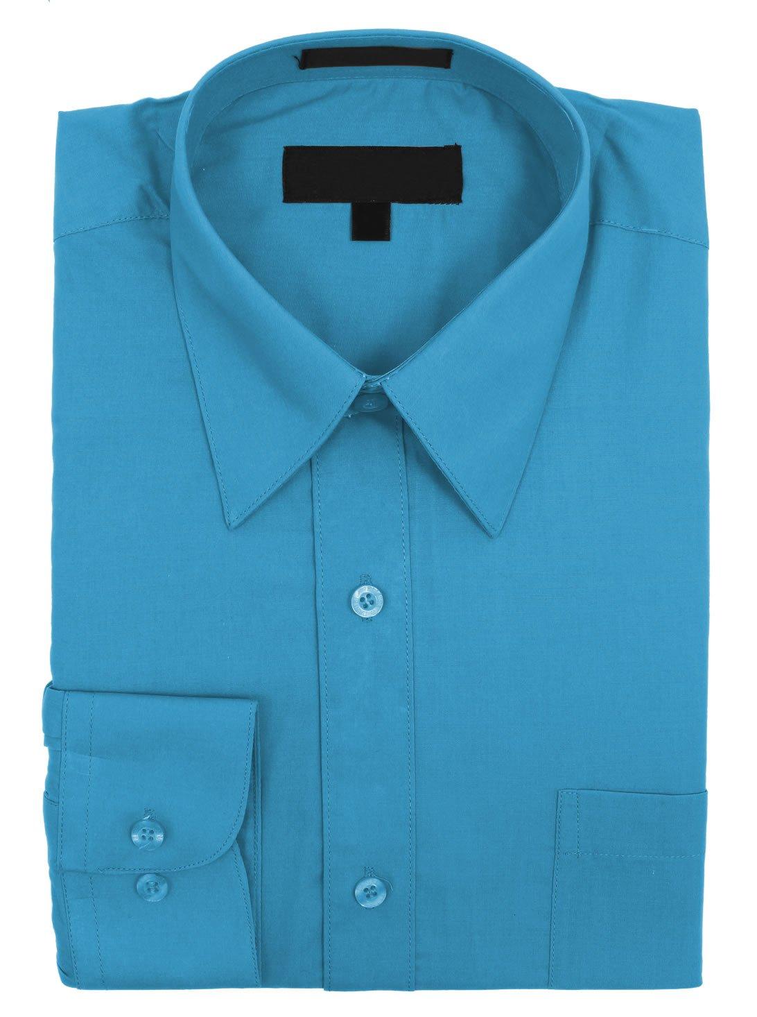 Sunrise Outlet Boys Solid Color Cotton Blend Dress Shirt NTP-BS3001