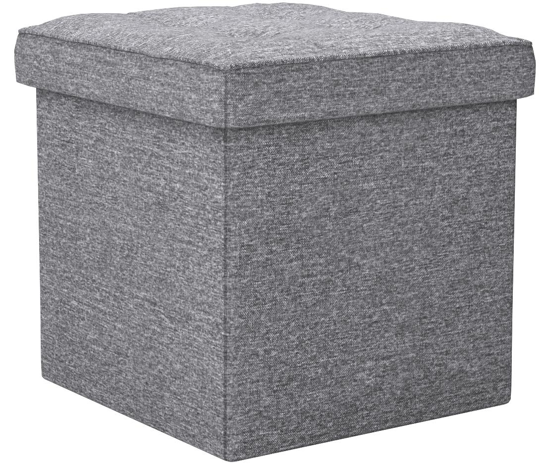 Durable Easy to Assemble /& Maintain Large Foot Rest Supports up to 300 lbs 32 x 32 cm SA Products Folding Ottoman Stool Grey Versatile Stylish /& Sleek Pouffe