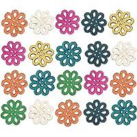 Healifty Botones de Madera Daisy DIY Vintage Color