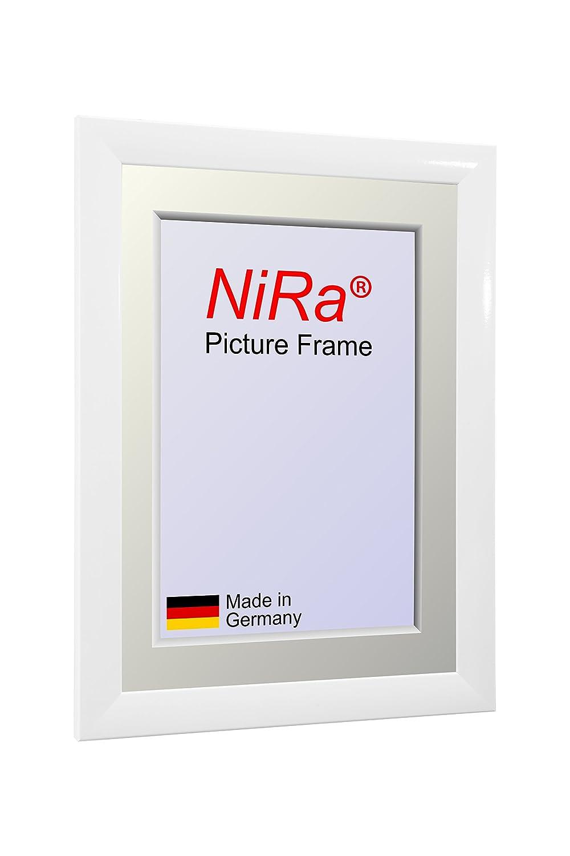 NiRa35-Top Cadre Photo 32x45 cm en Couleur Blanc Brillant avec Verre Acrylique antireflet