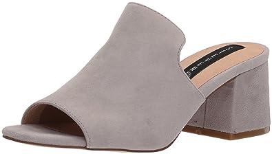 STEVEN by Steve Madden Women's Waze Sandal, Grey Suede, ...