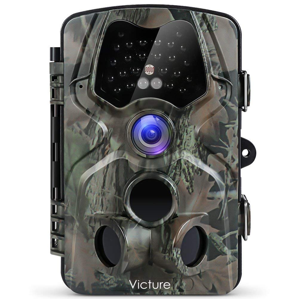 【Upgraded】Victure Trail Game Camera 1080P 12MP Wildlife Hunting Camera with 120 ° Wide Angle, 20m Night Vision Infrared, IP66 Waterproof Design, 2.4'' LCD Display for Wildlife Surveillance