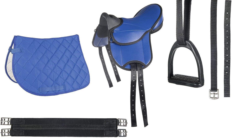 principiantes azul HKM Juego de sill/ín de monta