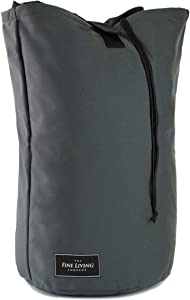 """The Fine Living Company USA - Giant Ultimate Laundry Bag in Grey - Expandable to 38"""" - Heavy Duty and Easy to Carry - Tough Material and Triple Stitched - Perfect for College Dorm   Backpack   Travel"""