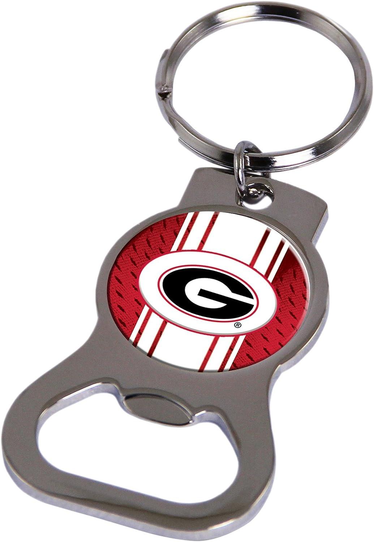 Rico Industries NCAA Georgia Bulldogs Metal Bottle Opener Keychain