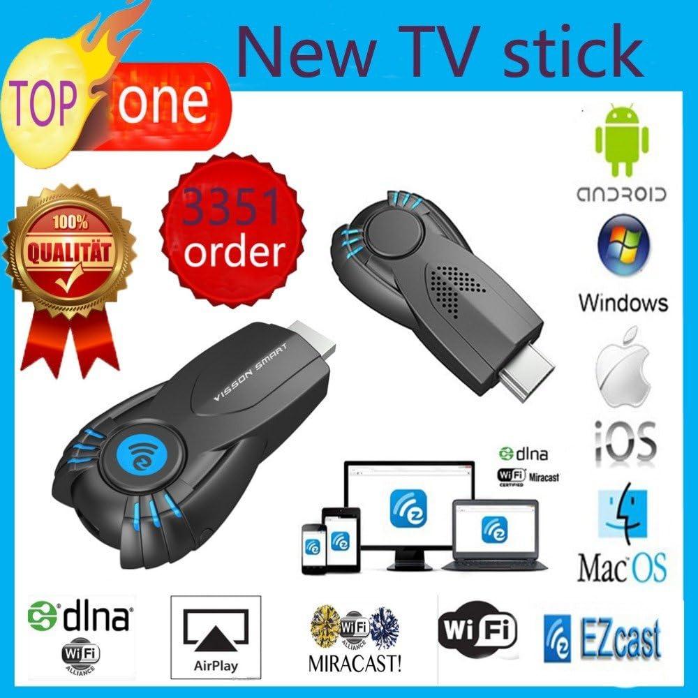 MU Vensmile V5ii Mejor Smart TV palillo Ezcast miracast Dongle DLNA Airplay MirrorOp Para IOS Andriod sistema operativo Windows mejor que la TV androide: Amazon.es: Electrónica