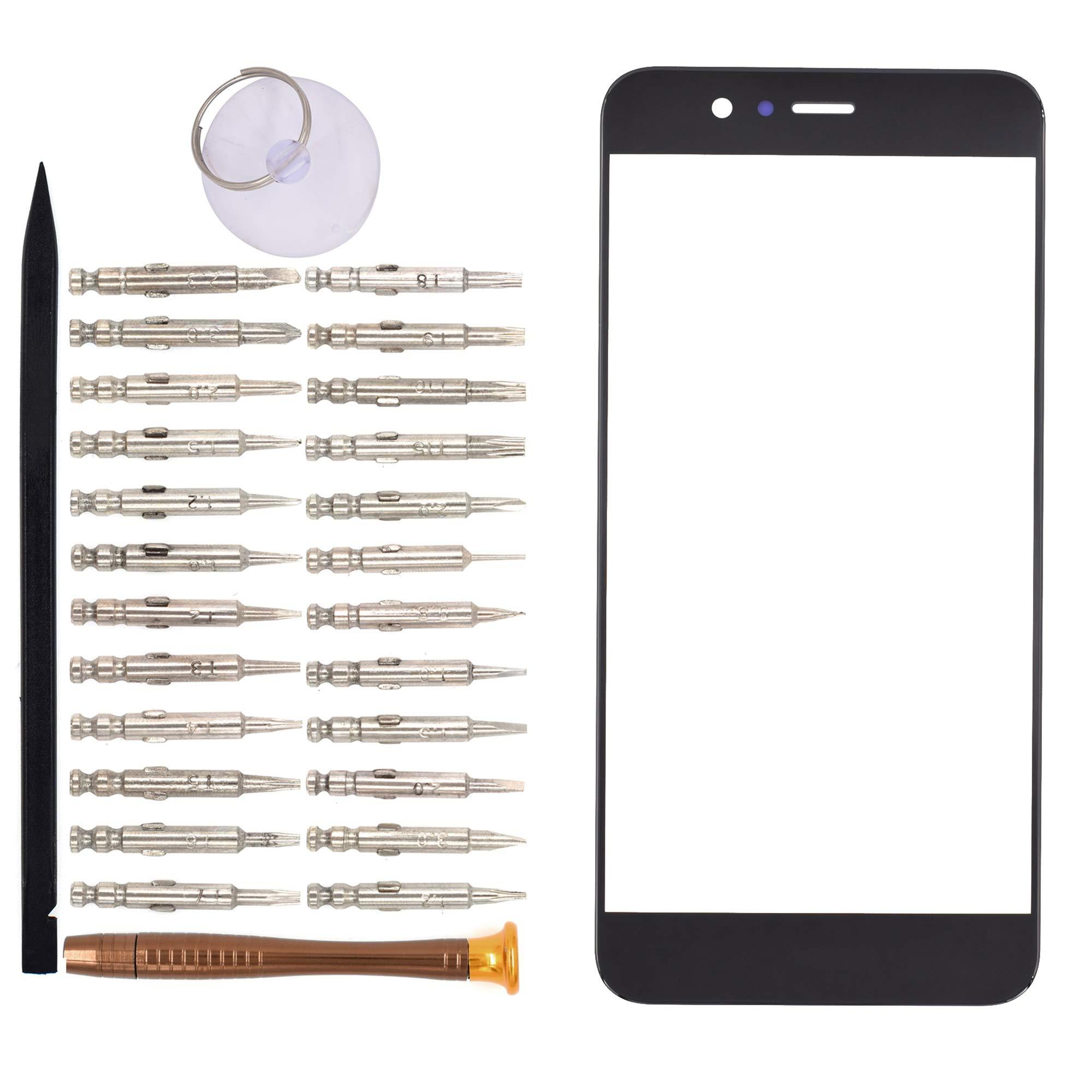 Vidrio Frente para Huawei nova 2 Plus negro [GOODYITOU]