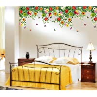 Decals Design 'Realistic Daisy Flowers Falling' Wall Sticker (PVC Vinyl, 60 cm x 90 cm, Multicolor)