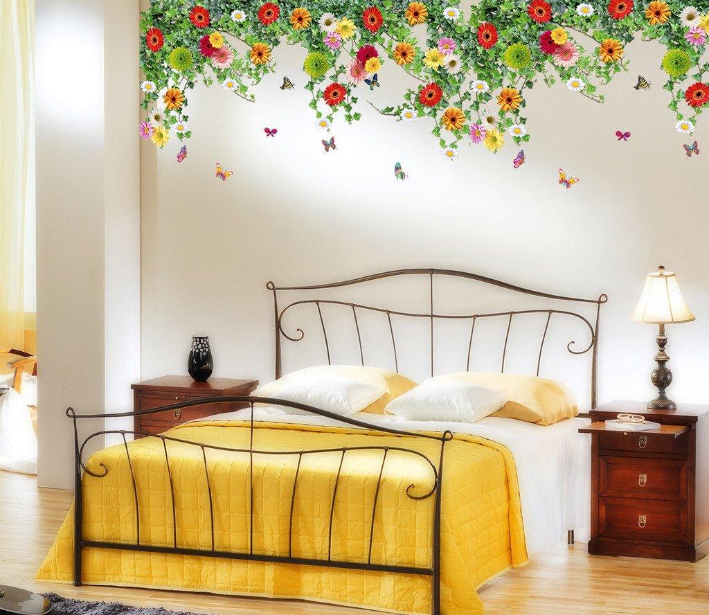 Finest Buy Decals Design 'Realistic Daisy Flowers Falling' Wall Sticker  RV23
