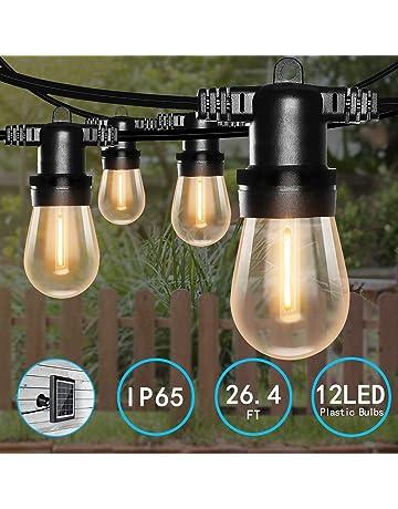 Stringa Solare Sfera di Cristallo 30 Luci LED Bianco Multi funzione all/'aperto alimentata 8m