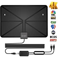 VICTONY HD Digital TV Antenna,Indoor Amplified HDTV Antenna 50 Mile Range with Detachable Amplifier Signal Booster and 16.5 Feet Coaxial Cable - Support All Formats …