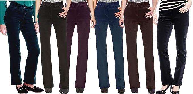 New Womens Marks /& Spencer Blue Bootleg Trousers 22 20 16 Medium Short