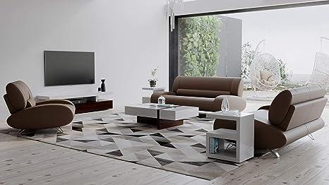 Miraculous Amazon Com Zuri Furniture Modern Aspen Brown Microfiber Theyellowbook Wood Chair Design Ideas Theyellowbookinfo