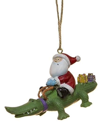 Amazon.com: Cape Shore Santa Riding Alligator Gator with Gifts ...