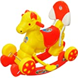 Ehomekart Kid's Funride Murphy Super Musical Baby Horse 2-in-1 Rocker and Ride-on with Backrest