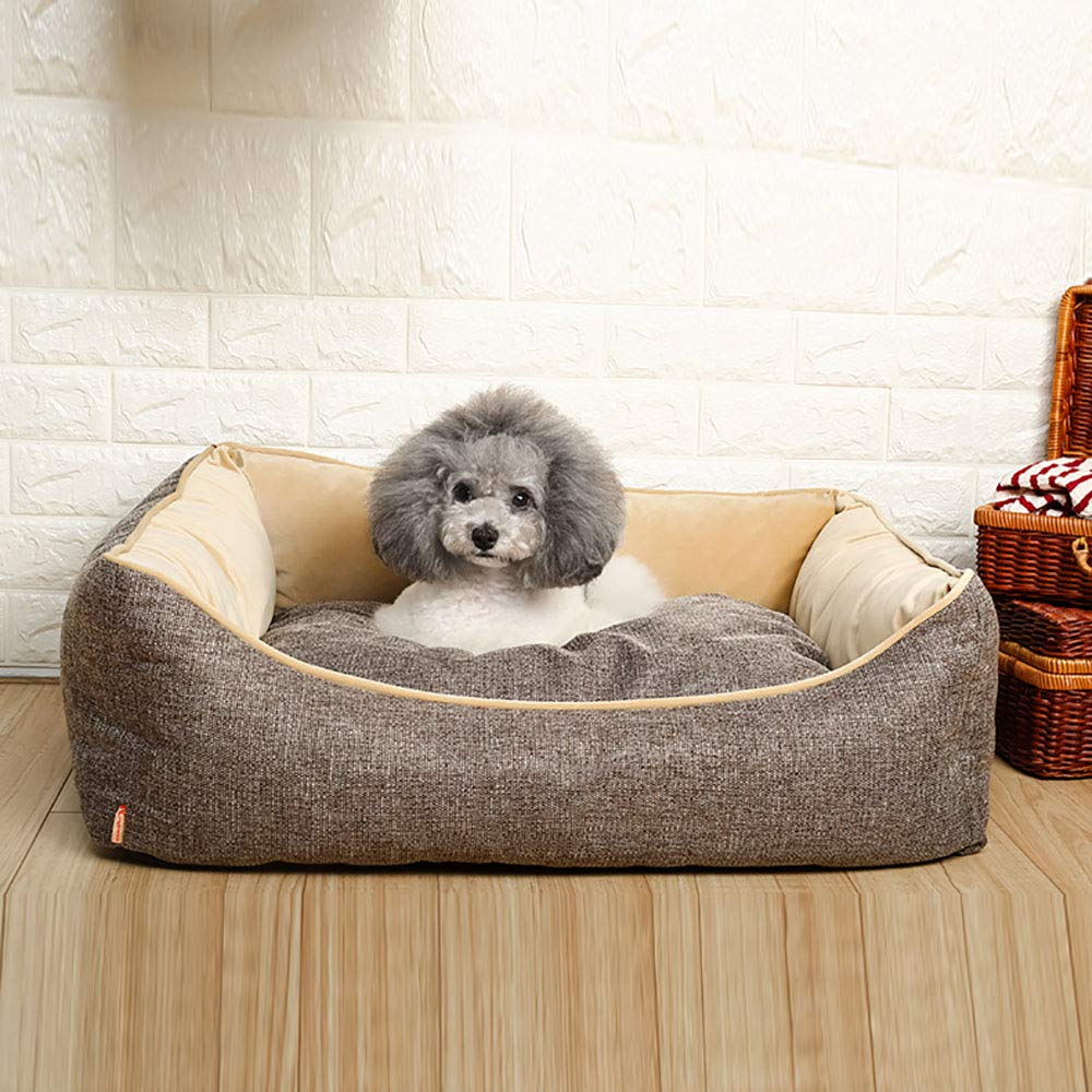BrownS MiaoMiao Cat Dog Bed Pet Cave & House Kennel Four Seasons Universal Nest Kennel Removable And Washable Small Medium-Sized Pet Bed,Browns
